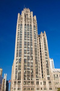 The Tribune Tower.
