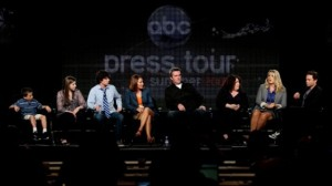 "Cast of ""The Middle"" (which stars Patricia Heaton, fourth from left) at the recent TCA Press Tour"