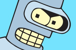 "Bender's not happy ""Futurama's"" ending."