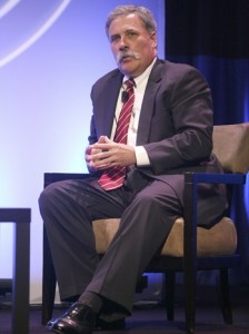 Fox exec Chase Carey at NAB convention.  (Photo by Valerie Macon/Getty Images)