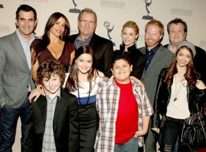 "The cast of ""Modern Family"" at the Emmys."