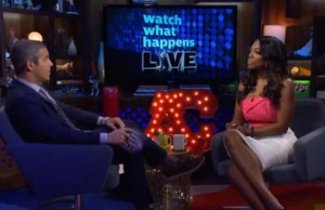Andy Cohen gives Kenya Moore the business.