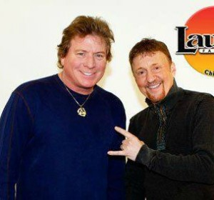 Eddie Volkman (left) and Joe Bohannon Colburn, in happier times (Radio Ink)