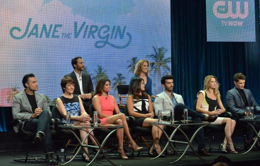 "The cast of ""Jane the Virgin"" at TCA."