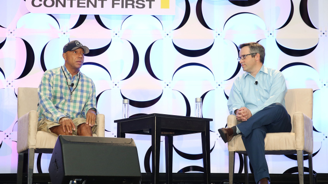 Russell Simmons at NATPE. (Variety)