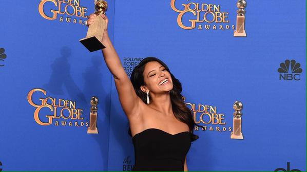 "Chicago's own Gina Rodriguez wins a Golden Globe for ""Jane The Virgin""."