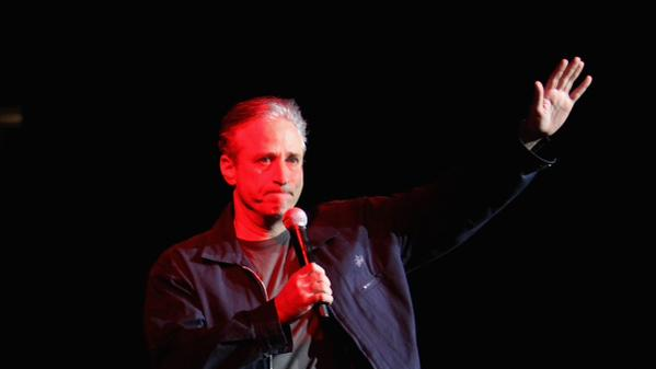 Jon Stewart, addressing the audience at a Daily Show taping