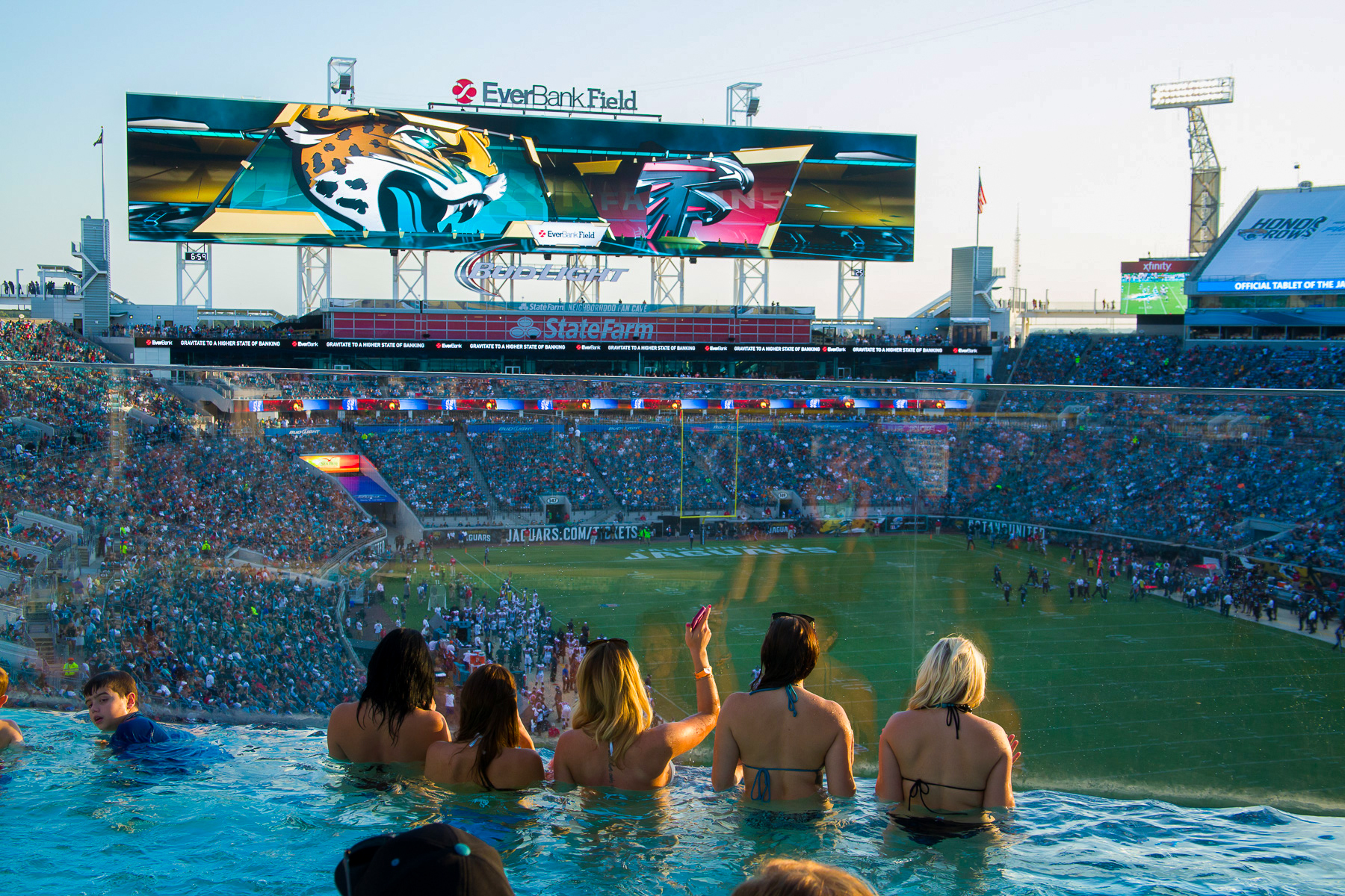 In the pool, everybody: Jacksonville Jaguars fans will get to see their team on home TV this year, even if Everbank Field isn't sold out. (Sports-forum.com)