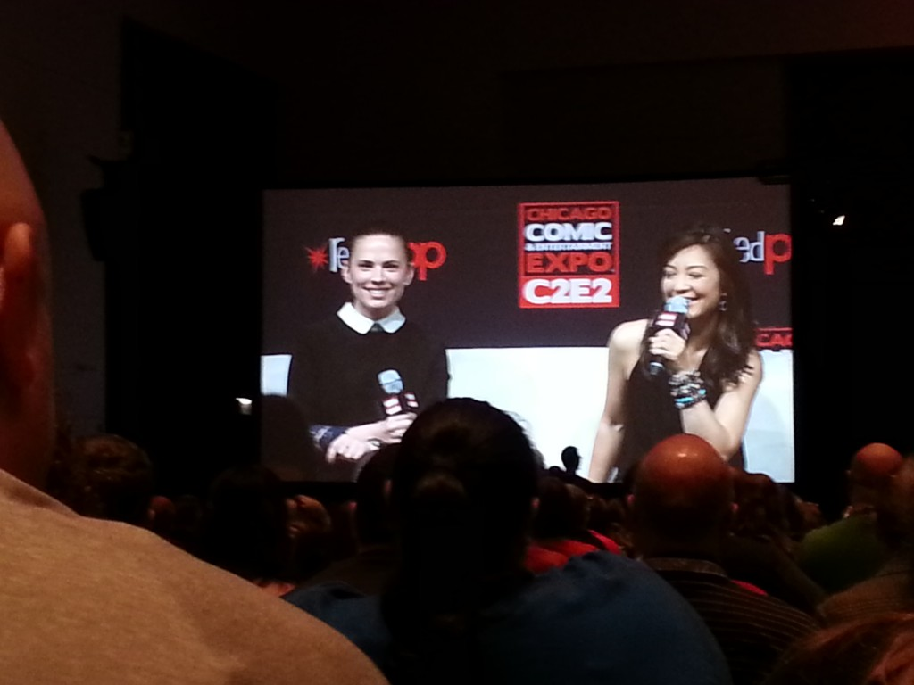 "Marvel's ""Kick"" panel at C2E2 with Hayley Atwell (i) and Ming-Na Wen (T Dog Media)"