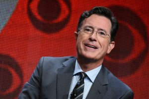 Stephen Colbert at CBS Press Tour. (Photo by Richard Shotwell/Invision/AP)