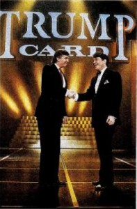 Donald Trump and Jimmy Cefalo in 1990 game show flop Trump Card (Warner Bros.)