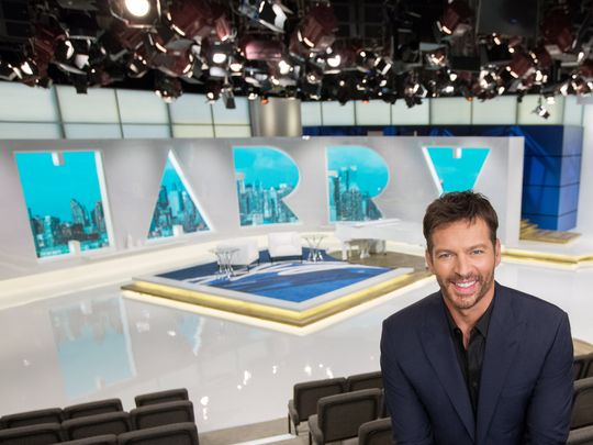 "Harry Connick Jr. on the set of ""Harry"". (NBCUniversal/Heidi Gutman)"