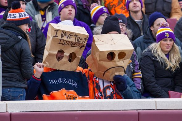 The fashion of choice for Bears fans these days. Or those for network television.